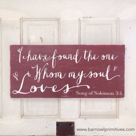 Song of Solomon 34  I Have Found the One Whom My Soul Loves by barnowlprimitives