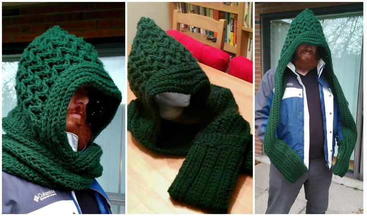 The Green Hunter scoodie with mitten pockets