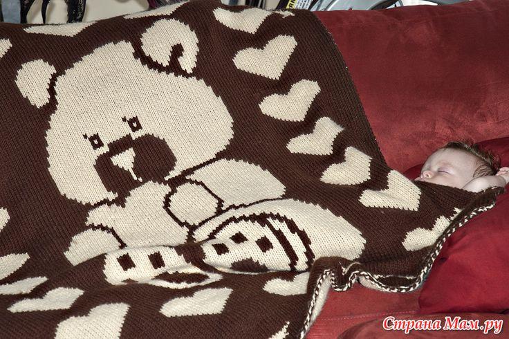 Двойное вязание. Одеялко в моем исполнении.