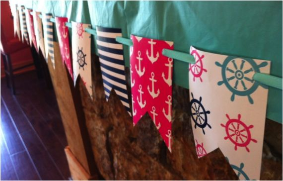 nautical girl birthday party | Brooklyn's Nautical First Birthday Party!