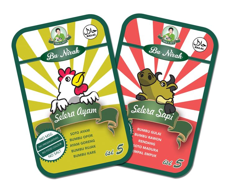 Stiker Pack Bu Nirah Selera Ayam & Bu Nirah Selera Sapi