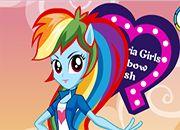 juegos Equestria Girls Vestir Rainbow Dash