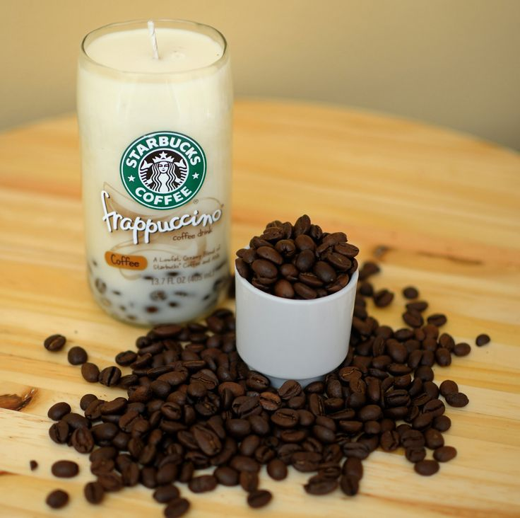 Recycled Starbucks Frappuccino Bottle Soy Candle. i'm pretty sure i could do this if i were determined. christmas project??