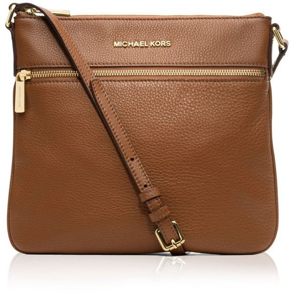 Michael Michael Kors Bedford Flat Crossbody ($178) ❤ liked on Polyvore featuring bags, luggage, brown cross body, cross body travel bags, brown cross body bag, leather crossbody and genuine leather bag