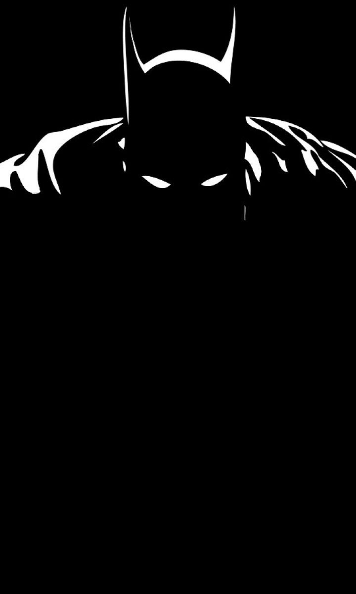 Minimal Dark Batman Superhero Dc Comics 720x1280 Wallpaper
