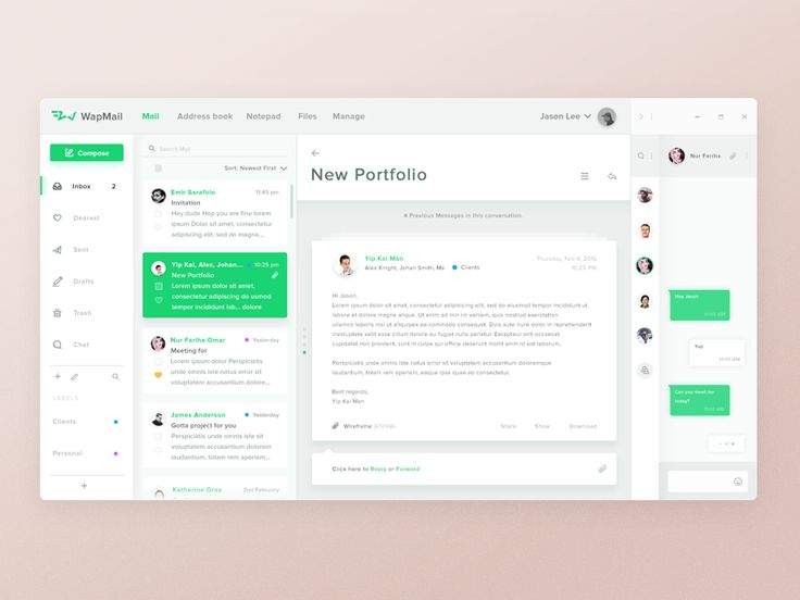 Hey Dribbblers Just finished my web client email app concept called Wapmail. Hop you like it guys   =====================    Wireframe    ·  Full view  ·  Follow me on Instagram  to stay in touch ...
