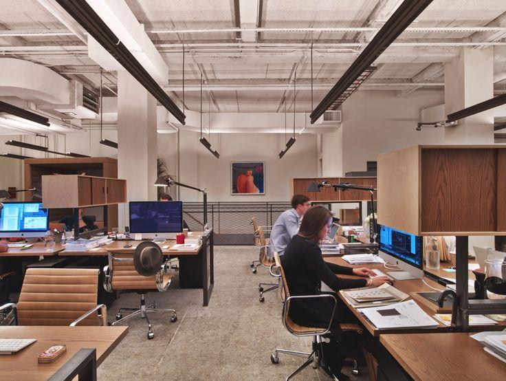 Modern office design neuehouse new york by david rockwell