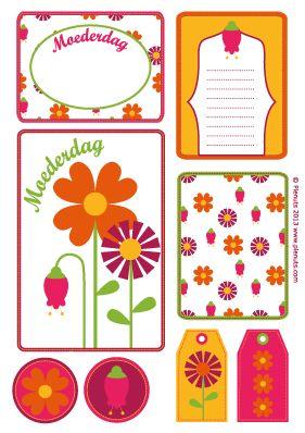 Gratis afdrukbare Moederdag labels door Pienuts #printable