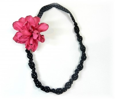 fabric necklace & burnt wired ribbon flower tutorial