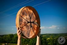 22' Shaman drum, Midsummer, Frame drum, Stage drum, Deer Hide paited w                      – VPdrums