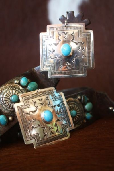 Navajo Cross Path Earrings from Cowgirl Kim