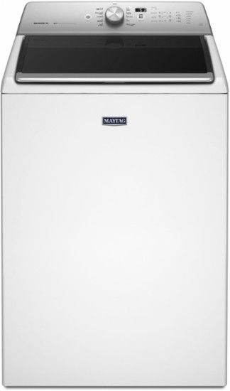 Maytag - 5.3 Cu. Ft. 11-Cycle Top-Loading Washer - White - Front Zoom
