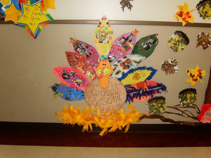 Thanksgiving Decorations Kindergarten : Preschool thanksgiving turkey tail feather family project
