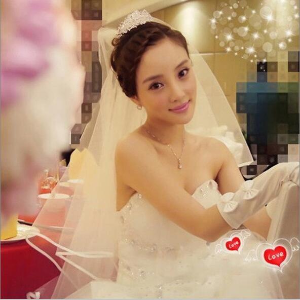 صور حقيقية الحرير حافة الزفاف الحجاب الحجاب الأبيض العاج الشمبانيا العروس الحجاب الشحن السريع في الأسهم