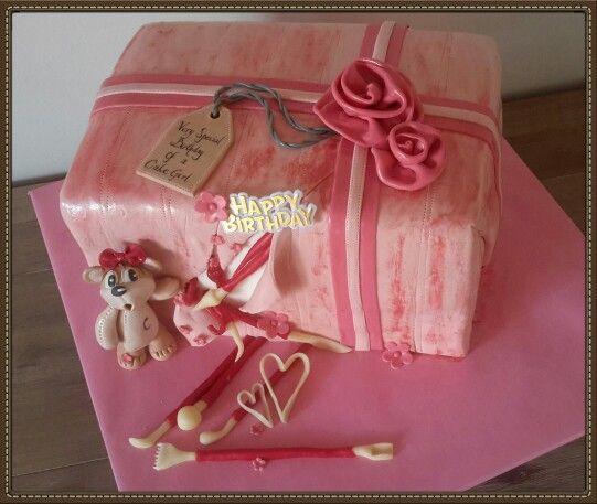 Birthday of a cake girl