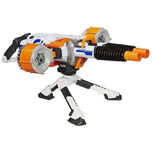 GREAT DOUBLE BARREL NERF MACHINE GUN BLASTER 2 DRUMS #nerf nerf party