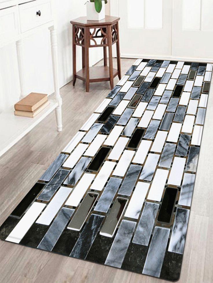 Ceramic Tile Pattern Water Absorption Area Rug