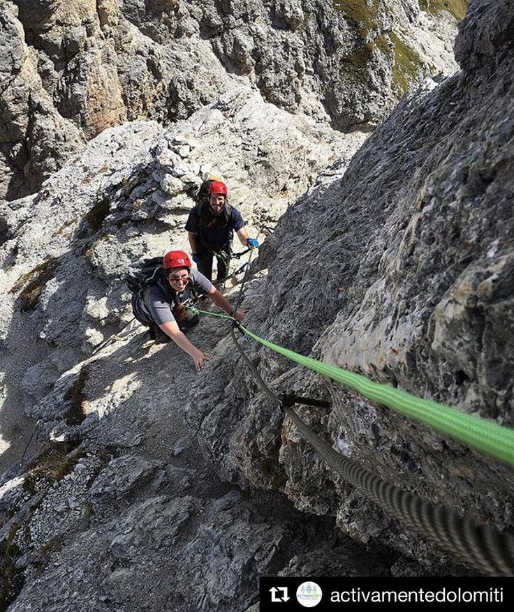Via ferrata great climb!  Dolomites.  #Repost @activamentedolomiti
