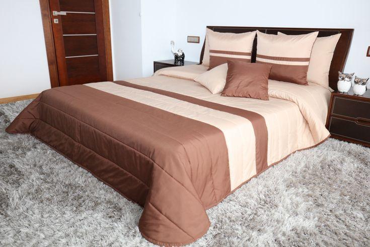 Hnedý prehoz na manželskú posteľ