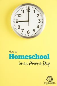 How to homeschool in an hour a day or what to do when you're short on time.
