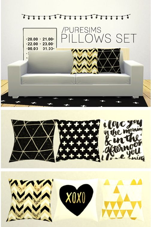 Pure Sims: Pillows set 1 • Sims 4 Downloads