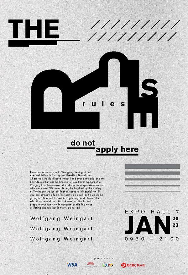 Typography poster - Wolfgang Weingart by Leong Jin Jie, via Behance