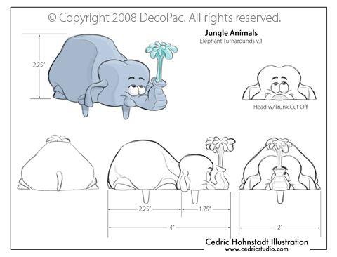 Jungle Elephant Cake topper