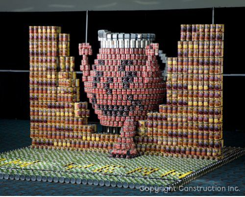 Canned Food Building Contest