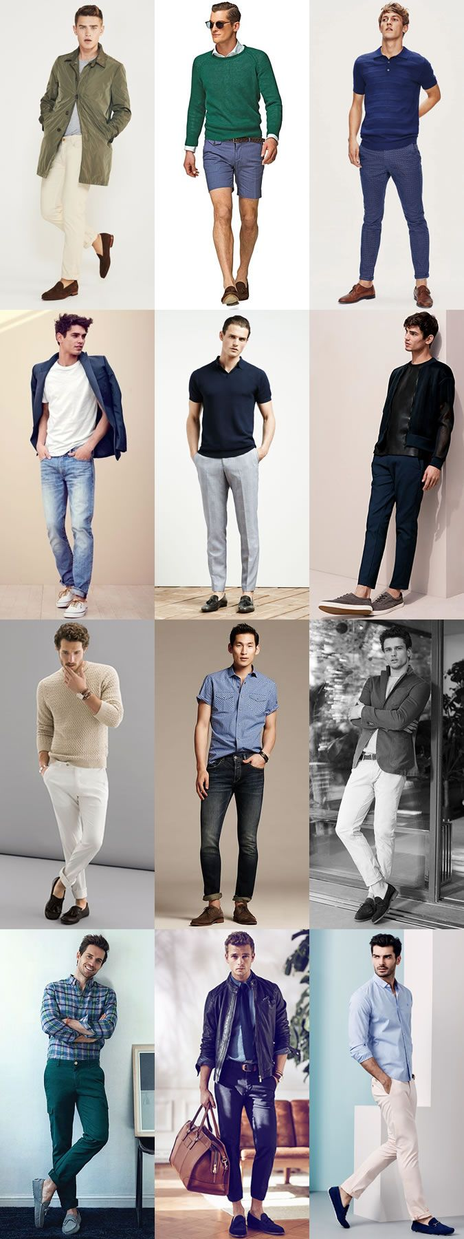 Men's Spring/Summer Sockless Outfit Inspiration Lookbook