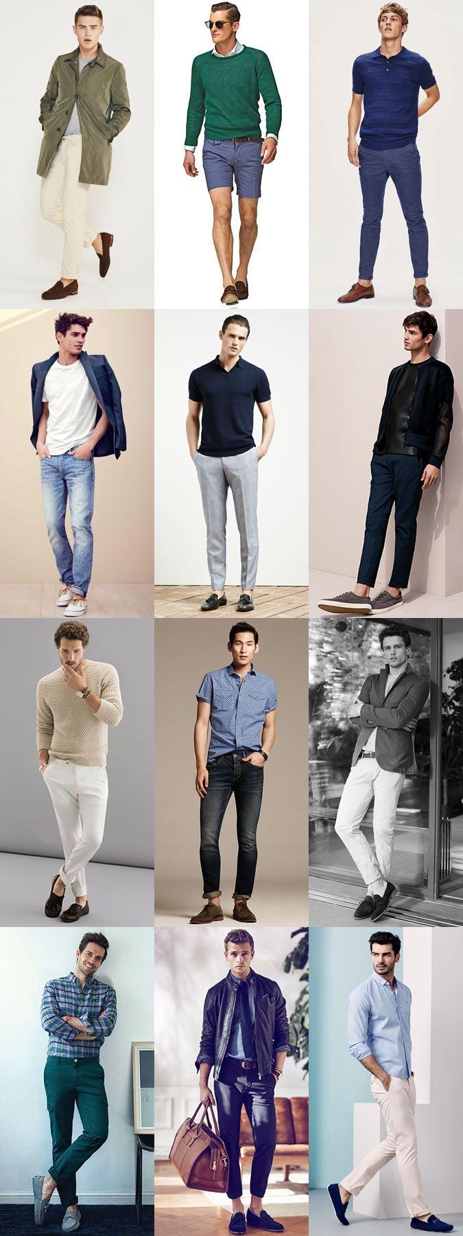 Men's Spring/Summer Sockless Outfit Inspiration Lookbook