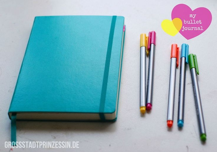 Bright, fun, decorated Bullet Journal! Several pictures & description of how she uses her Bullet Journal.