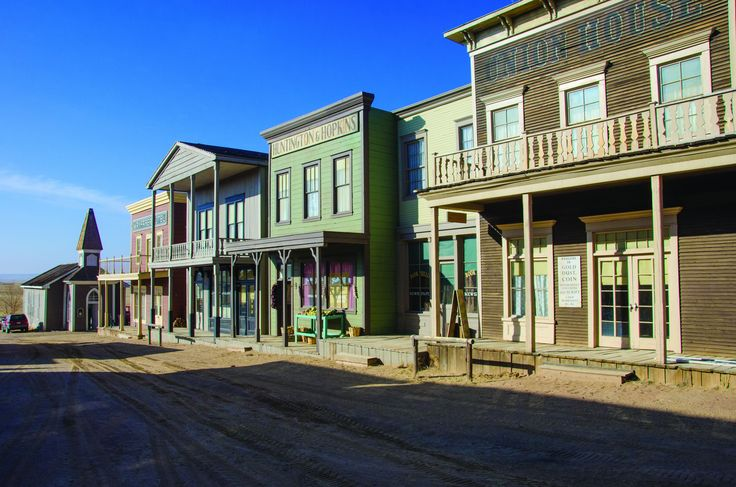 New Mexico Western Movie Sets | the set of the movie wild wild west and burned the existing set to the ...