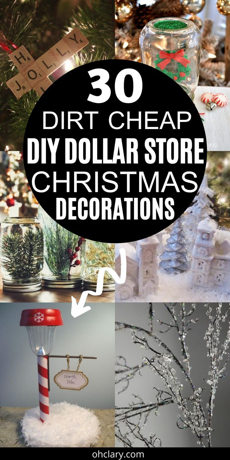 30 Diy Dollar Store Christmas Decorations You Can Make With Your Kids 2019 Dollar Store Christmas Decorations Dollar Store Christmas Christmas Decor Diy Cheap