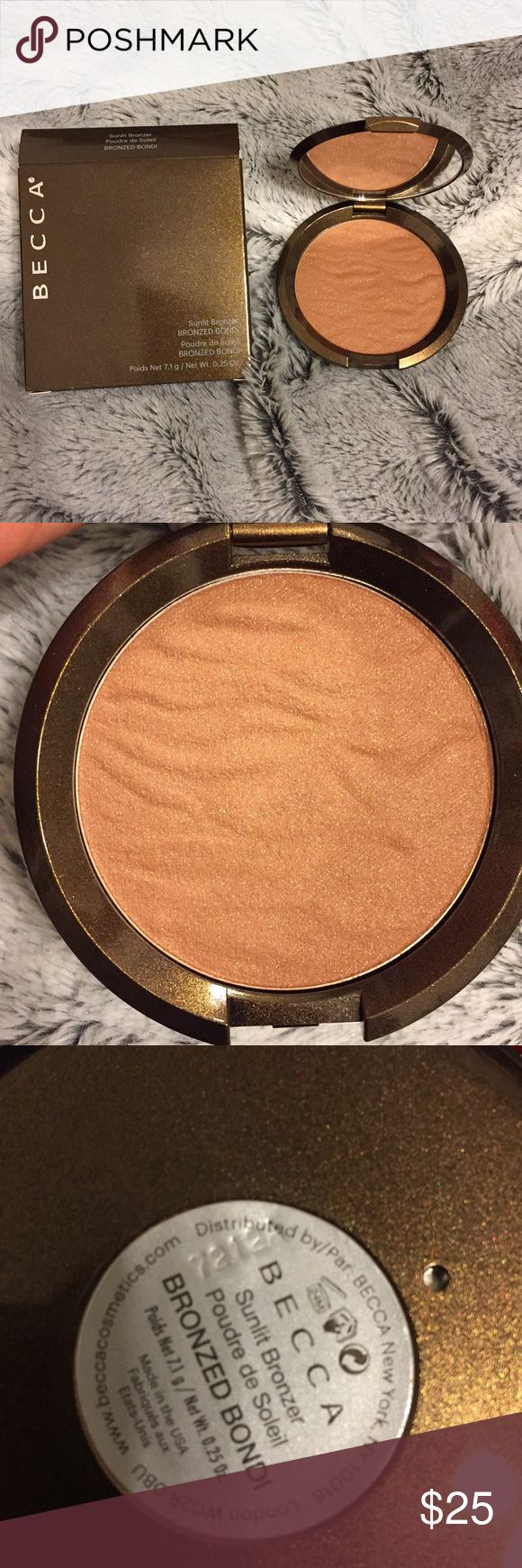 BECCA BRONZER Becca Sunlit Bronzer in BRONZED BONDI Brand new, never swatched.  Batch numbers provided for authenticity. BECCA Makeup Bronzer