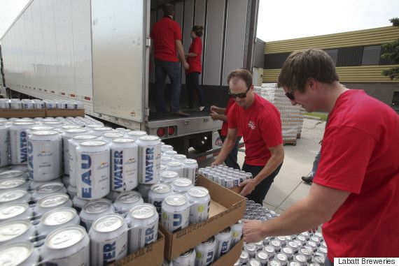 Fort McMurray Fire: Labatt Brewery Donates Canned Water For Evacuees