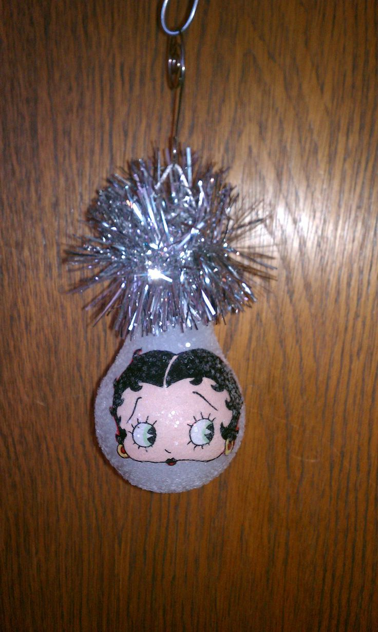 Handmade christmas ornaments on etsy - Lightbulb Crafts Betty Boop Keepsake Light Bulb Ornament By Chris903 On Etsy