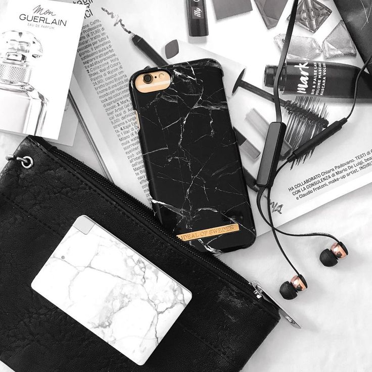 Black Marble by lovely @itsharonx - Fashion case phone cases iphone inspiration iDeal of Sweden #black #marmor #marble #gold #fashion #inspo #iphone #details #flatlay