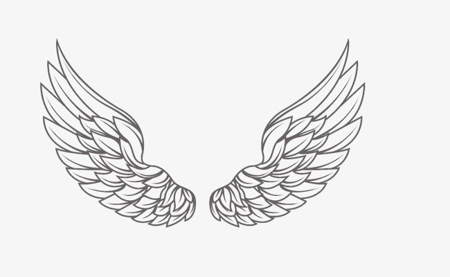 One Pair Of Feather Wings Png And Psd Wings Tattoo Angel Wings Tattoo Neck Lower Hip Tattoos