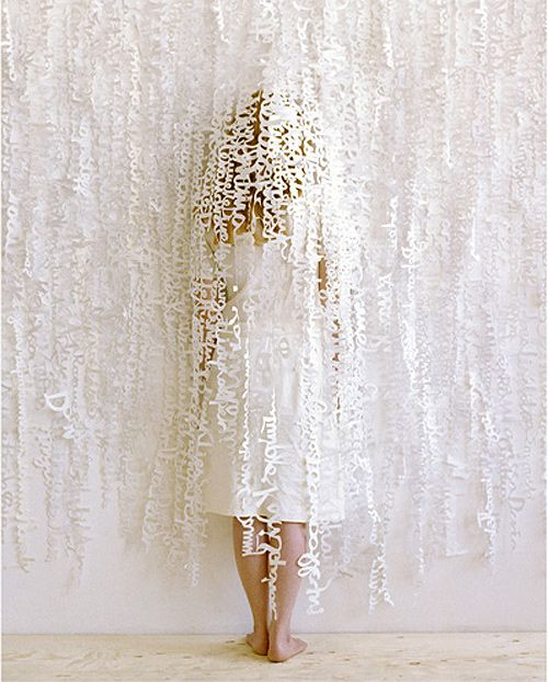 White wedding paper lace for altar backdrop