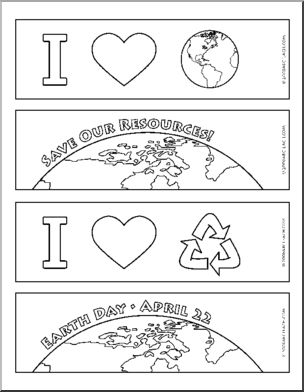 Earth Day Bookmarks For more Earth day craft and other freebies see; http://pinterest.com/cleverclassroom/earth-day-craft-and-freebies/