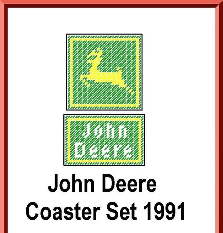 John Deere Coaster Set Pattern in Plastic Canvas by TamarasTraditions on Etsy