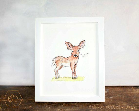 Baby Deer Art Digital Download Animal by BEEautifulcreatures