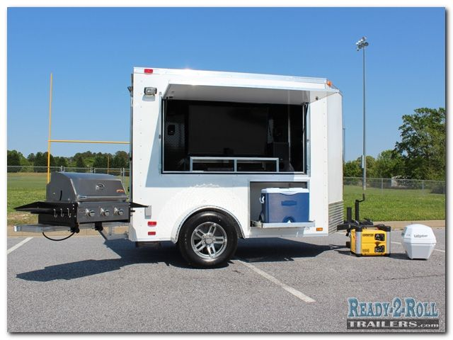 5x8 White Standard Tailgating Trailer 2compact Travel