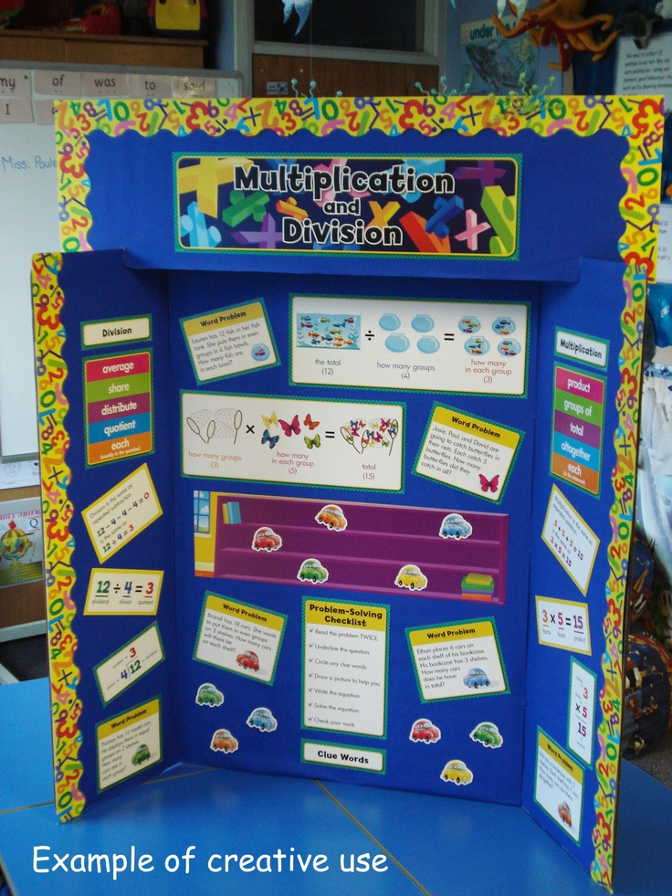Classroom Presentation Ideas : Multiplication and division display set ct