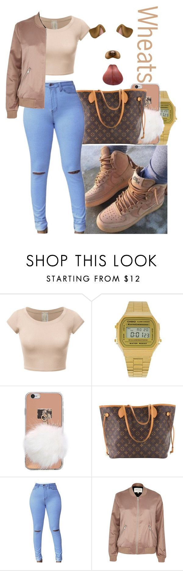 """""""Wheats"""" by creativenarwhal on Polyvore featuring Nike air force, Casio, Louis Vuitton and River Island"""