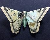 Ten Dollar Bill Origami BUTTERFLY - Money Gift Idea - Beautiful 10th Birthday Present