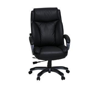 Cohen York Saville Leather Chair Black | Officeworks