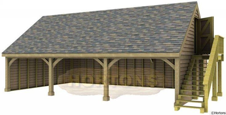Carport With High Pitched Roof Full Cabin Spec