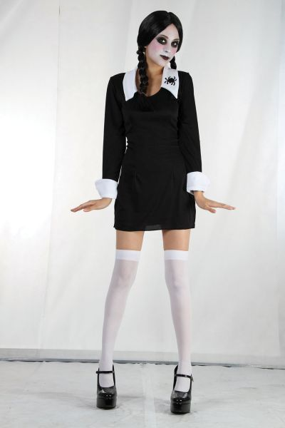 SALE Adult Sexy But Very Creepy School Girl Ladies Halloween Fancy Dress Costume