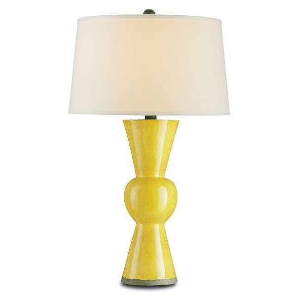 Currey & Company Upbeat Table Lamp, Yellow - Currey 6382 ($499) ❤ liked on Polyvore featuring home, lighting, table lamps, yellow lamp, yellow shade, yellow table lamp, yellow lights and yellow shades
